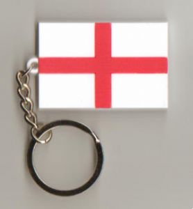 England Country Flag Soft PVC Keyring